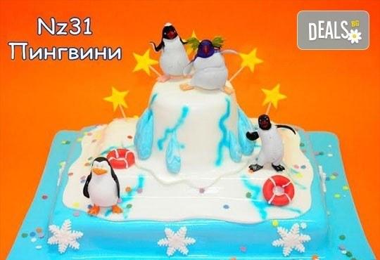 Детска торта с фигурка и пълнеж по избор + кутия, надпис и свещичка от Сладкарница Лагуна!Предплати сега! - Снимка 27