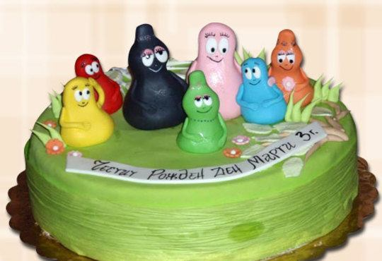За най-малките! Детска торта с Мечо Пух, Смърфовете, Спондж Боб и други герои от Сладкарница Джорджо Джани - Снимка 27