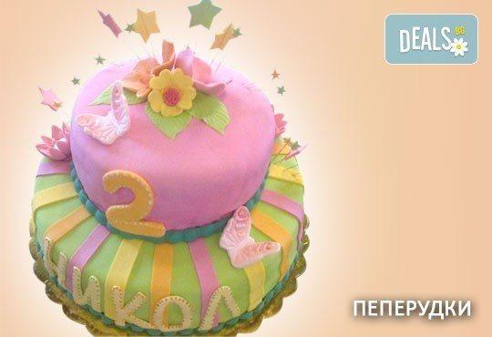 Красиви детски торти за момичета с принцеси и приказни феи + ръчно моделирана декорация от Сладкарница Джорджо Джани - Снимка 19