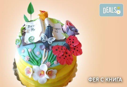 Красиви детски торти за момичета с принцеси и приказни феи + ръчно моделирана декорация от Сладкарница Джорджо Джани - Снимка 7