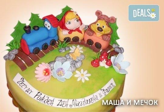 Красиви детски торти за момичета с принцеси и приказни феи + ръчно моделирана декорация от Сладкарница Джорджо Джани - Снимка 3