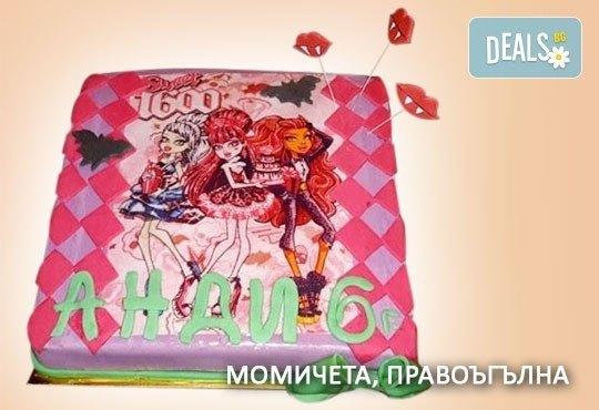 Красиви детски торти за момичета с принцеси и приказни феи + ръчно моделирана декорация от Сладкарница Джорджо Джани - Снимка 16