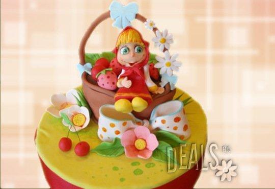 Красиви детски торти за момичета с принцеси и приказни феи + ръчно моделирана декорация от Сладкарница Джорджо Джани - Снимка 13