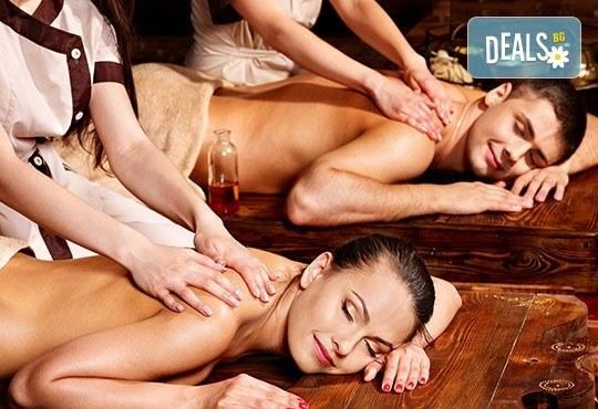 Светът е за двама! Два синхронни релаксиращи масажа на цяло тяло с етерични ароматни масла и билки в Chocolate studio - Снимка 5