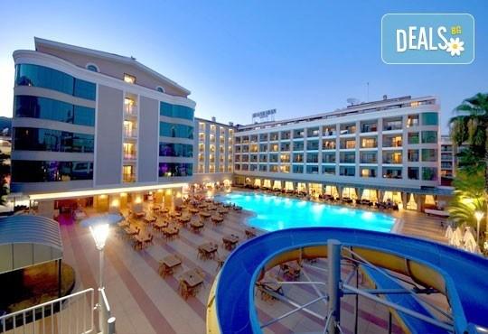 Майски празници в Мармарис, Турция! Paşa Beach Hotel 4*, 5 нощувки на база All Inclusive, възможност за транспорт - Снимка 1