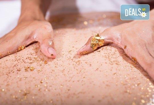 Релаксирайте активно! SPA терапия масаж със златни колодални частици и терапия с вулканични камъни, студио Full Relax - Снимка 3