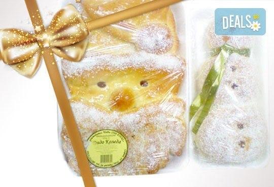 Вкусно! Дядо Коледа и Снежния човек, направени от меко козуначено тесто пълно с крем брюле от Работилница РАВИ - Снимка 1