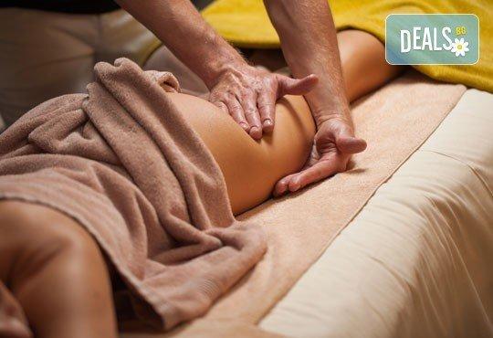 Забравете портокаловата кожа! Ръчен антицелулитен масаж и подарък меден масаж на гръб в козметичен салон ''Ауриел''! - Снимка 2