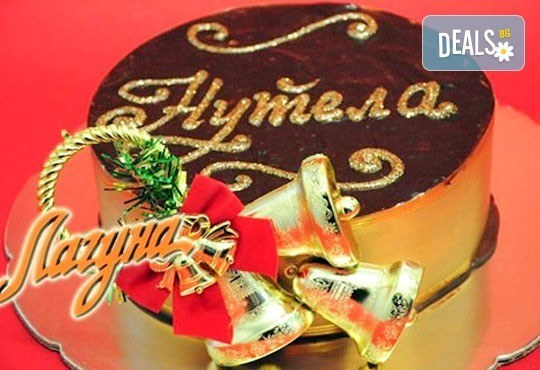 Коледна торта шоколад нутела, шоколадови бисквити, маскарпоне и сметана от Виенски салон Лагуна! Предплати сега 1 лв. - Снимка 1