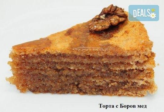 1 кг домашна торта по избор - с шипков мармалад или боров мед от Виенски салон Лагуна! Предплати сега 1 лв. - Снимка 2