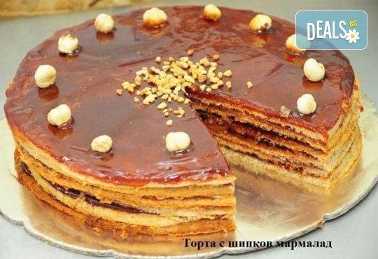 1 кг домашна торта по избор - с шипков мармалад или боров мед от Виенски салон Лагуна! Предплати сега 1 лв. - Снимка 1