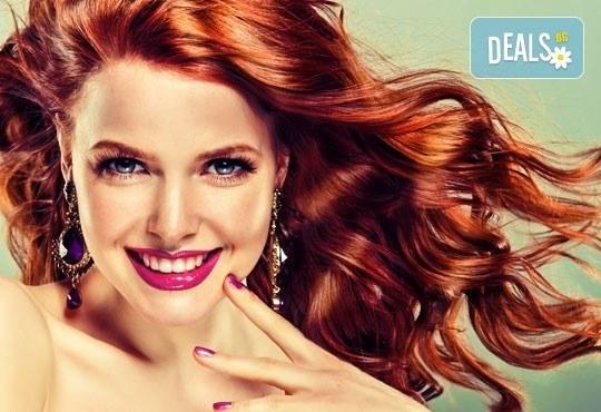 Боядисване с боя на клиента, подстригване, терапия според нуждите на косата и прическа със сешоар от ADI'S Beauty & SPA - Снимка 3