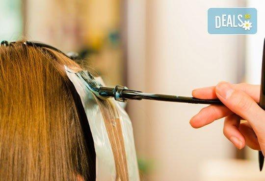 Цветни кичури или Балеаж плюс маска за запазване на цвета и стилизиране на прическа по избор от ADI'S Beauty & SPA - Снимка 2