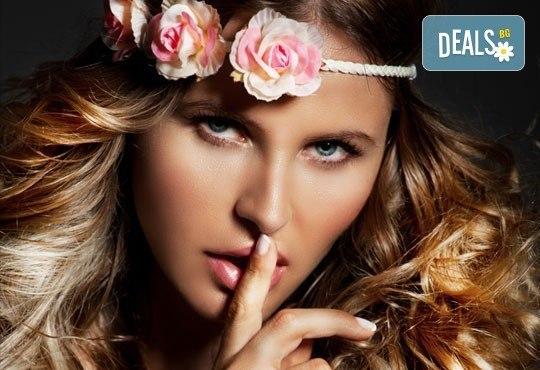 Цветни кичури или Балеаж плюс маска за запазване на цвета и стилизиране на прическа по избор от ADI'S Beauty & SPA - Снимка 1