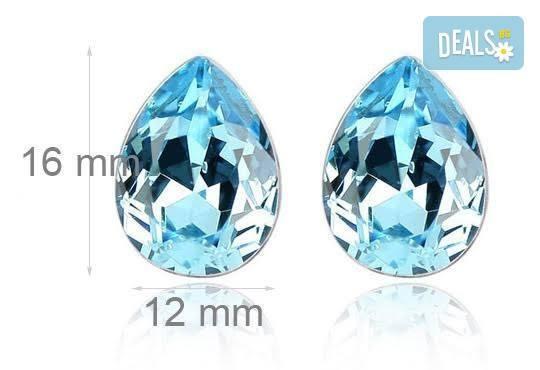Идеалният подарък за празниците! Колие и обеци ''Морска лагуна'' с австрийски кристали от Модни аксесоари! - Снимка 2