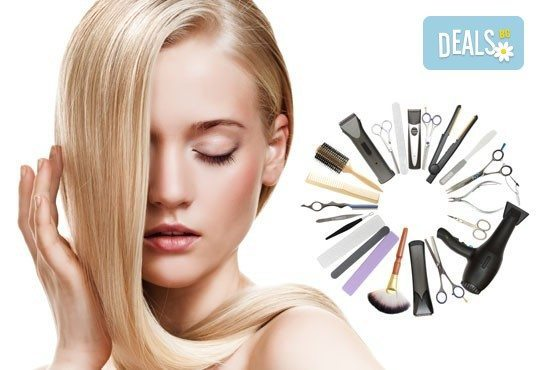 Освежете косата си в Салон за красота Виктория! Боядисване с боя на клиента, подстригване и сешоар-прав или дифузер - Снимка 3