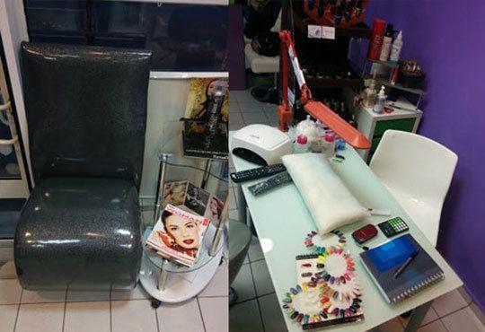 Ноктопластика чрез изграждане с гел във форма по желание на клиента, лакиране с лак Morgan Taylor в Салон Хасиенда - Снимка 5