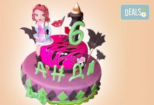 Страхотна фигурална торта за момичета: Замръзналото кралство, Монстар или Феята Дзън Дзън от Сладкарница Джорджо Джани - Снимка 2