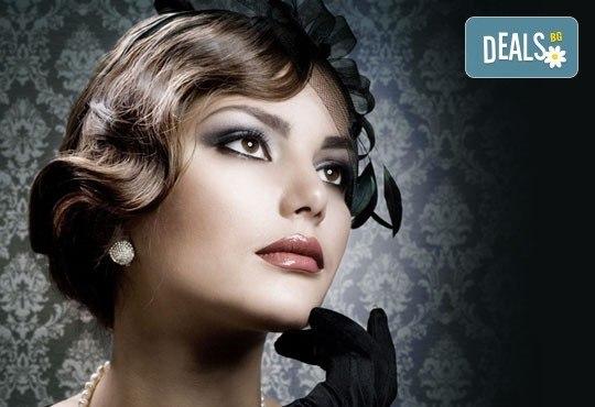 Бъдете различна и красива всеки ден със стилна прическа - ретро преса, маша, прав сешоар или къдрици с преса в салон Хасиенда! - Снимка 1