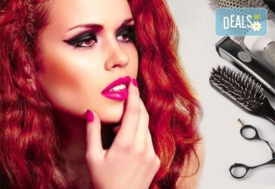 Боядисване с Ваша боя, маска според типа коса, подстригване, оформяне и подарък: лакиране с OPI в салон Мелинда! - Снимка 1