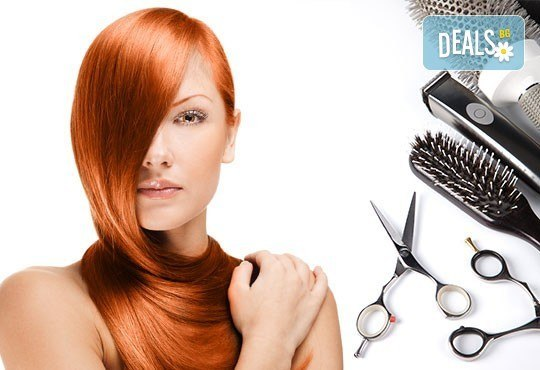 Боядисване с L'Oréal Matrix, подстригване, терапия според типа коса с инфраред преса и оформяне със сешоар в салон Мелинда! - Снимка 2