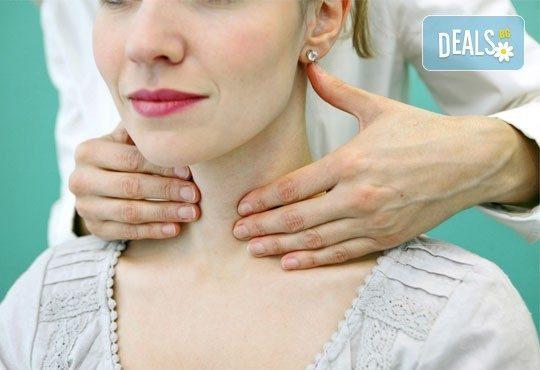 С грижа за здравето! Преглед при опитен лекар ендокринолог и ехография на щитовидна жлеза от Медицински център Хармония! - Снимка 1