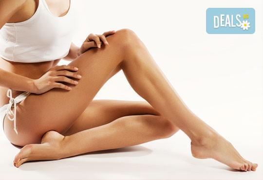 Пет процедури антицелулитен масаж на бедра и седалище с масла и гелове с кофеин и L-carnitine, салон за красота АБ - Снимка 3