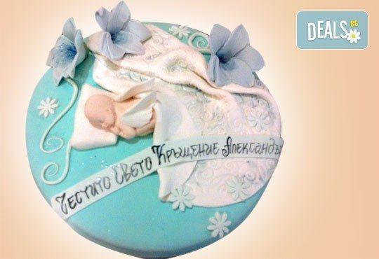 Tортa за изписване от родилния дом или за кръщенe - дизайни на Сладкарница Джорджо Джани - Снимка 3