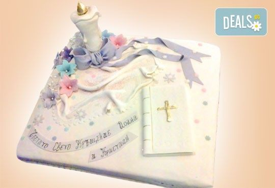 Tортa за изписване от родилния дом или за кръщенe - дизайни на Сладкарница Джорджо Джани - Снимка 2