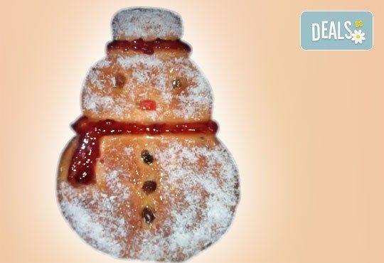 Голяма Коледна звезда и Снежен човек от козунак и крем брюле, Работилница за вусотии РАВИ - Снимка 1