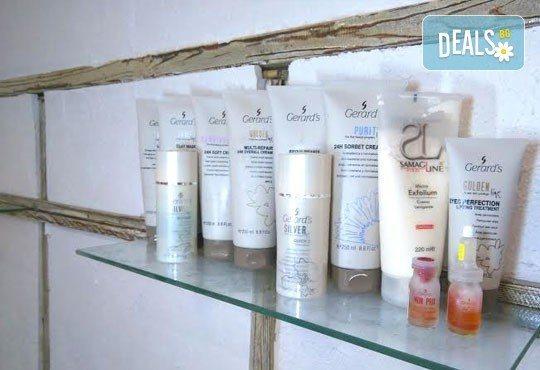 Подстригване, масажно измиване, маска с продукти на Nashi и оформяне със сешоар - прав или букли от Royal Beauty Center - Снимка 5