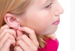 Пробиване на уши и подарък: висок клас медицински обици, салон Flowers
