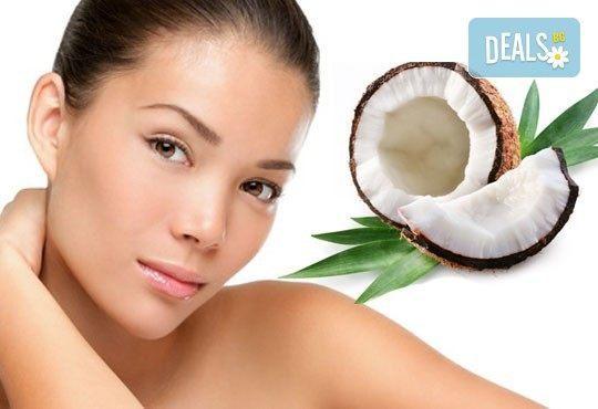 Антиейдж терапия за лице, шия и деколте със 100% натурално кокосово масло и естествени кристали в Wellness Place BEL! - Снимка 1