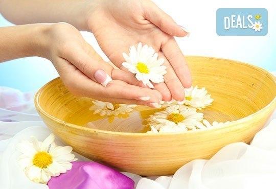 Поглезете ръцете си с арома СПА маникюр с етерични масла, масаж и гел лак SNB в цвят по избор в Point Nails! - Снимка 1