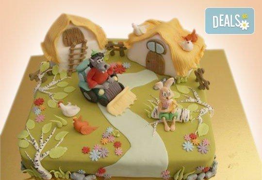 Огромна детска 3D торта с фигурална ръчно изработена декорация от Сладкарница Джорджо Джани - Снимка 6