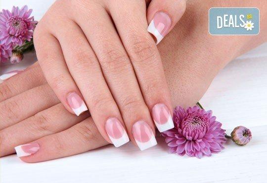 Ноктопластика с гел, маникюр с гел лак Blue Sky или Gel Plus, декорации с щампи или камъни от Royal Beauty Center - Снимка 3