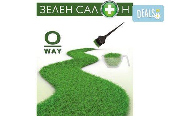 Масажно измиване, маска с еко продукти на O'WAY, подстригване по избор и оформяне от N&S Fashion зелен салон! - Снимка 4