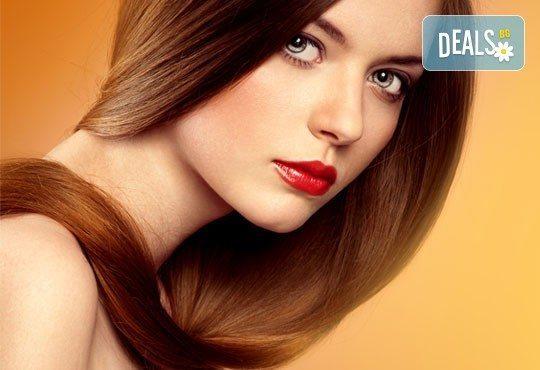 Сбогом на цъфтящите краища! ''Полиране'' на косата с полировчик, измиване, маска и оформяне от N&S Fashion зелен салон! - Снимка 1