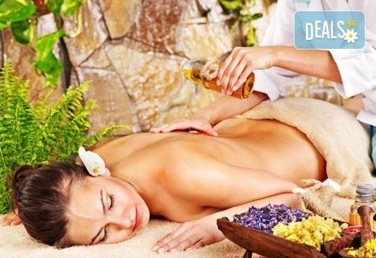 Дълбокомускулен масаж на цяло тяло с топли билкови масла и дяволски нокът и консултация в студио Full Relax! - Снимка 2