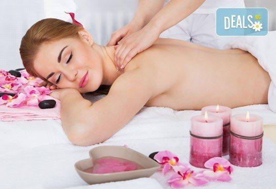 Релаксирайте с арома масаж на раменен пояс, врат и плешки или на гръб с етерични масла в салон Екатерини! - Снимка 3