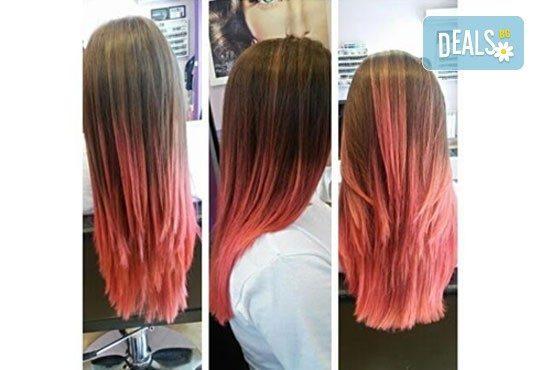 Блестяща и ослепителна коса! Подстригване, милк шейк терапия и оформяне със сешоар в салон Nails club в Младост 4! - Снимка 12