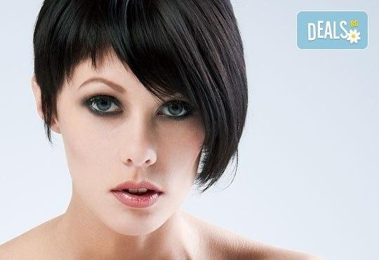 Подстригване в стил боб, пикси, пънк или каре, подхранваща маска и оформяне със сешоар в салон Професионален усет! - Снимка 2