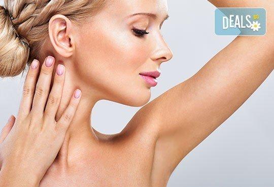 За прекрасна, нежна и мека кожа! PTF фотоепилация на зона мишници в салон за красота Nails club в Младост 4! - Снимка 1