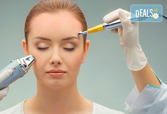 Кадифено гладка кожа! Лечебен масаж на лице и дарсонвал или йонофореза по избор от студио за красота Five! - Снимка 2