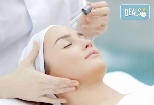 Кадифено гладка кожа! Лечебен масаж на лице и дарсонвал или йонофореза по избор от студио за красота Five! - Снимка 3