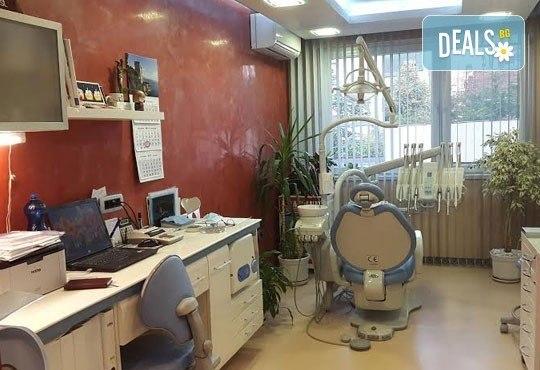 Почистване на зъбен камък и плака с ултразвук, полиране с Air Flow, бонус обстоен стоматологичен преглед от д-р Джорджев - Снимка 5