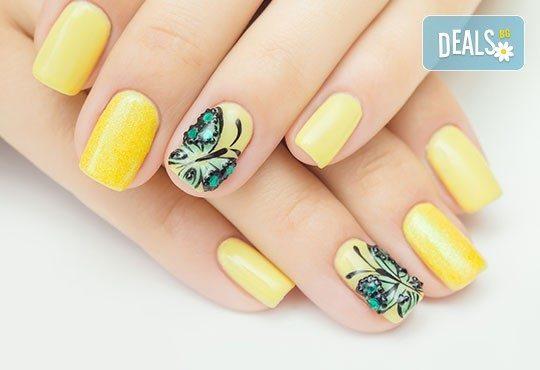 Страстни нокти! Маникюр с четири или десет рисувани декорации + цвят O.P.I. или CND в Студио за красота ЖАНА - Снимка 2