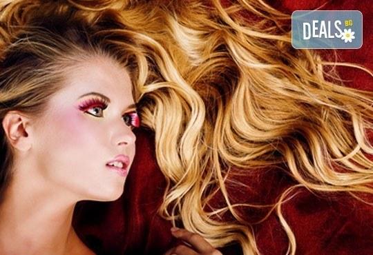 Цвят в косите! Боядисване с боя на салона BES на Christian of Roma и оформяне със сешоар, студио за красота Five! - Снимка 1