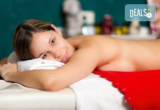 Арома, релаксиращ, болкоуспокояващ масаж на гръб с подбрани етерични масла от жасмин и макадамия в Medina SPA & Wellness - Снимка 2