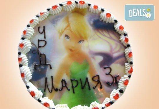 Нов обект на Сладкарница Орхидея! Кръгла детска торта 10 парчета с фотоснимка с любим герой или снимка по избор! - Снимка 5